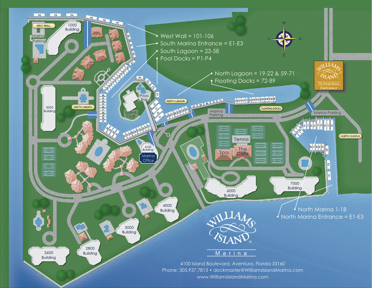 Florida Islands Map.The Spa At Williams Island South Florida Luxury Marina Your Safe