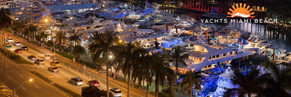 2017 Yachts Miami Beach at night